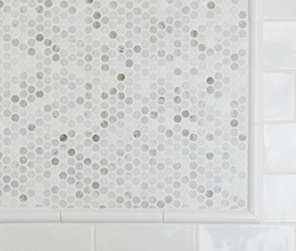 carrara marble hex tile
